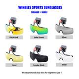 Winbees Sports Sunglasses/Goggle, Attachable Helmet Sunglasses Over Eyeglasses For Any Helmet Sports