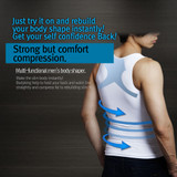 Body King - Slim Vest High Quality Men's Chest Compression Slimming Body Shaper Workout Undershirts