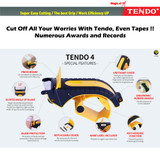 Professional Packing Tape Dispenser: TENDO Premium Line - Great for Heavy Duty Shipping, Packaging, Box Sealing, and Office Work with Patented 10°Sloped Chromium Blades [P-2200 (4th Gen)]