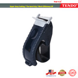 """Packing Tape Dispenser: TENDO Home & Office Line - Ergonomic, Economic, Environmental Solution for 2"""" Heavy Duty Shipping, Moving, Box Sealing with Patented 10° Sloped Chromium Blades [SY-223 Navy]"""