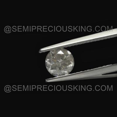 6.85 mm Single Piece 1.20 Carat Round Brilliant Cut GH Color SI Clarity  Salt and Pepper Diamond For Sale