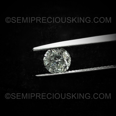 6.65 mm Round Brilliant 1.26 Carats Good Cutting GH Color Clarity SI  Salt and Pepper Diamond For Sale