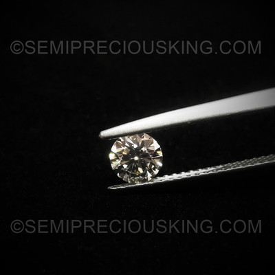 5 mm  VVS Clarity DEF Color Genuine Loose Diamond Engagement Ring