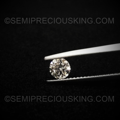 5 mm Round Brilliant Cut 0.51 Carat Perfect Solitaire 1 PC  VVS Clarity DEF Color Genuine Loose Diamond Engagement Ring