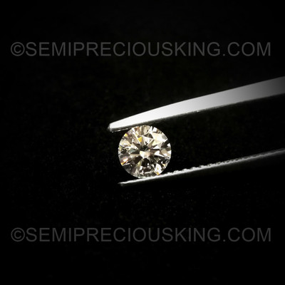 0.51 Carat 5 mm Round Brilliant Cut Perfect Solitaire 1 PC  VVS Genuine Loose Diamond Engagement Ring Clarity DEF Color