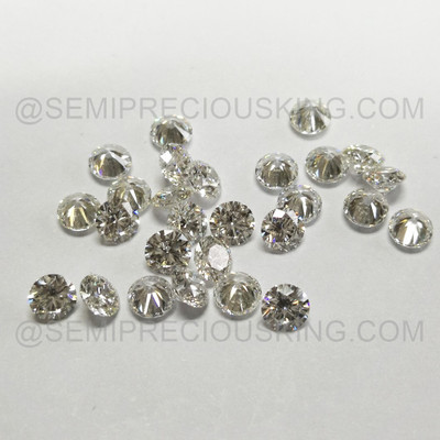 Genuine Diamond 3.60mm 0.188 Carat Round VS Clarity DEF Color Brilliant Cut Wholesaler Loose Diamond