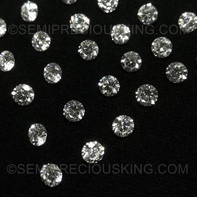 Genuine Diamond 3.70mm 0.196 Carat Round VS Clarity DEF Color Brilliant Cut Wholesaler Loose Diamond