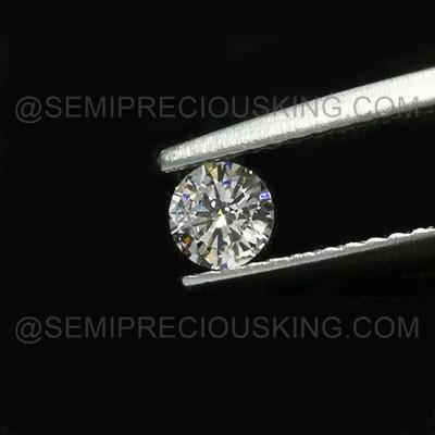 Genuine Diamond 4mm Round Solitaire VS Clarity DEF Color Brilliant Cut Wedding Ring Loose Diamond