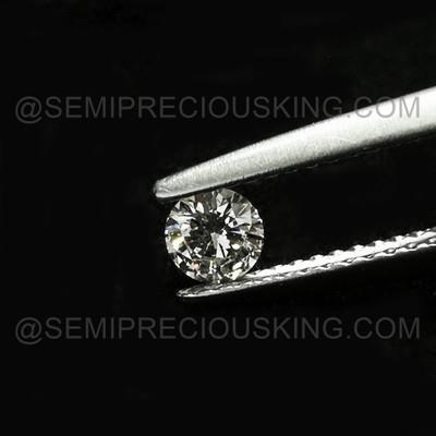 4 mm 1 PC Round Brilliant Cut Solitaire VS Clarity DEF Color Genuine Loose Diamond Wedding Ring