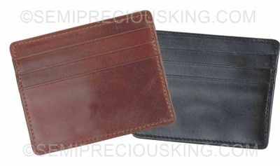 Credit Card Holder Italian Leather Umberto Ferreti 95X75 mm Made in Italy Gift for him/her