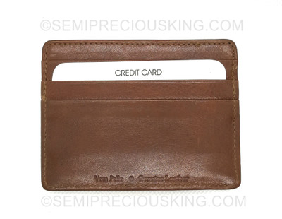 Italian Leather Umberto Ferreti 95X75 mm Made in Italy Gift for him/her Credit Card Holder