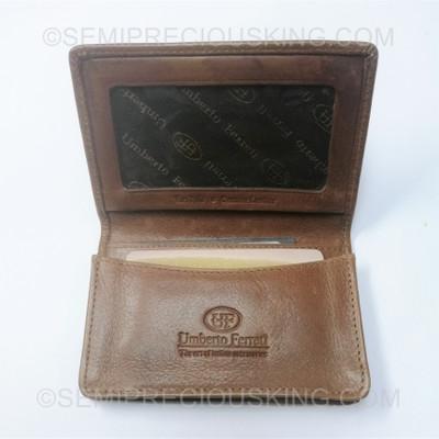 Italian Leather Business Card Holder Umberto Ferreti