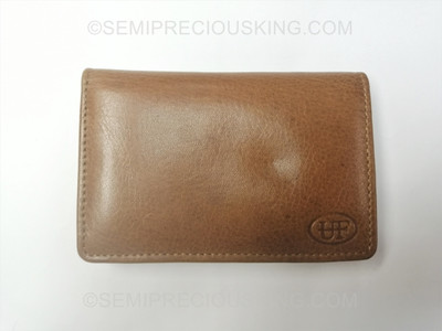 Business Card Holder Italian Leather Umberto Ferreti 110X70mm Made in Italy