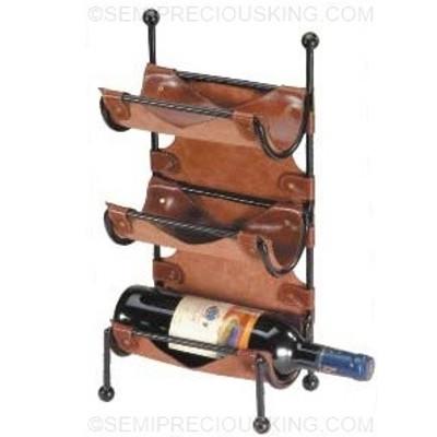 Wine Rack Italian Leather Umberto Ferreti 200x130mm Made in Italy Classic Gift