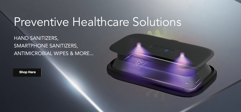 hand sanitizers, smartphone sanitizers, antimicrobal wipes
