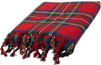 Deluxe Fly Plaid to complete Ceremonial  Dress in Black Stewart Royal