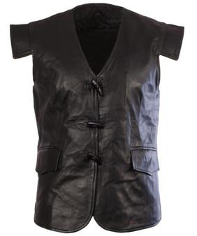Leather Scottish Waistcoat In In Jacobean Style Size Medium