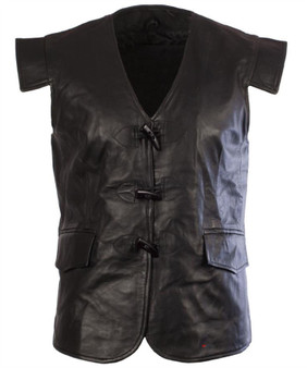 Leather Scottish Waistcoat In In Jacobean Style Size X-Large