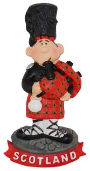 Resin Scottish Fridge Magnet With Piper Standing Design