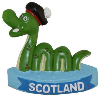 Resin Scottish Fridge Magnet With Nessie In Water Design