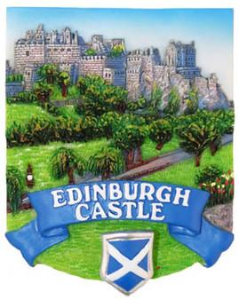 Resin Scottish Fridge Magnet With Edinburgh Castle Saltire CrestSpring Design