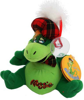 Cute Loch Ness Soft Toy Nessie Car Window Mascot Toy with Window Sucker