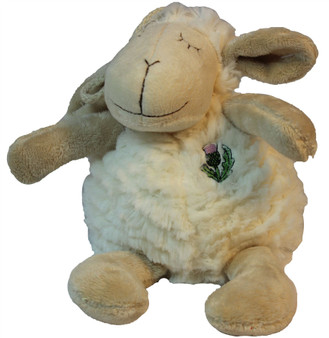 Cute Fluffy White Sleepy Sheep Soft Toy for Children Adorable Sheep Toy