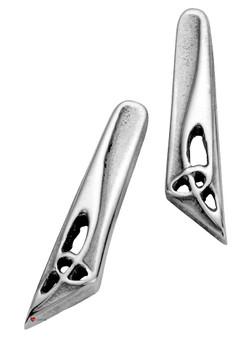 Sterling Silver Earrings Pierced Fit Contemporary Design Celtic Trefoil