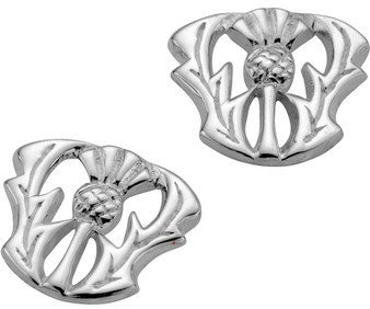 Sterling Silver Thistle Taper Earrings 10mm
