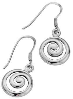 Earrings Sterling Silver Pierced Fitting Drop Style Celtic Spiral