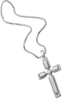 Pendant Cross in Hallmarked Sterling Silver Raised Cross Detail 25mm