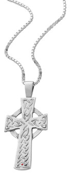 Pendant Cross Hallmarked Sterling Silver Classic Raised Celtic 26mm