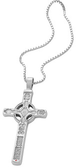 Pendant Cross Hallmarked Sterling Silver Based On Iona St John 30mm