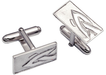 Cufflinks Sterling Silver Oblong Decorated Interweave Fragment