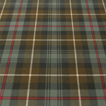 Light Weight 10oz Fabric Material MacKenzie Weathered Tartan 1 Metre