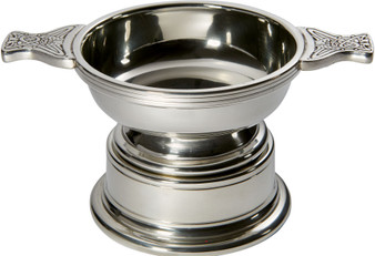 Quaich Scottish Pewter Medium Size 100mm With Plinth Tasting Bowl Ideal Christening Gift