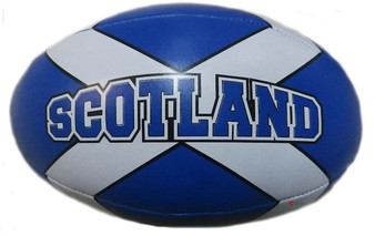 Scottish Saltire Soft Mini Red Rugby Ball Toy for Kids