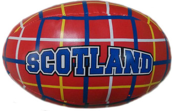 Scottish Tartan Soft Mini Red Rugby Ball Toy for Kids