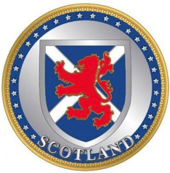 Scottish Souvenir Gift Coin With Map On Flip Side Crest Design Souvenir Coin