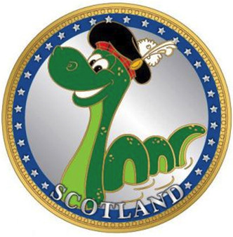 Scottish Souvenir Gift Coin With Map On Flip Side Nessie Design Souvenir Coin