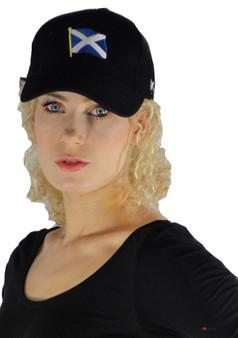 Black Baseball Cap Saltire Scottish Design Saltire Scotland Cap
