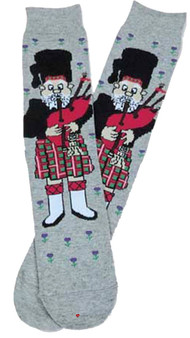Scottish Piper Socks Grey Scottish Socks Gift Piper Design