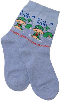 Kids Socks Gift Scottish Nessie Socks Design Wee Nessie Socks Kids