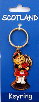 Scottish  Keyring Piper Design on Scottish Keyring