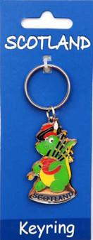 Scottish  Keyring Nessie Design on Scottish Keyring