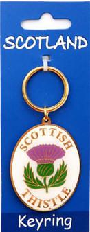 Scottish  Keyring Thistle Design on Scottish Keyring