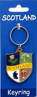 Scottish  Keyring Scotland Crest Design on Scottish Keyring