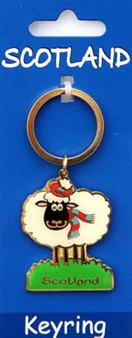 Scottish  Keyring Scotland Sheep Design on Scottish Keyring