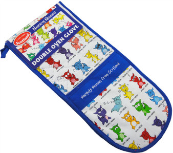 Naughty Nessies Double Oven Gloves Loch Ness Mascot Naughty Nessies