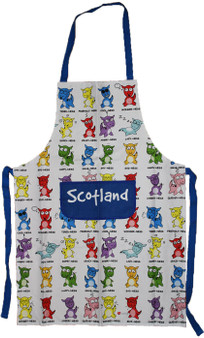 Naughty Nessies Scotland Kitchen Apron Loch Ness Mascot